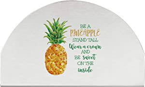 Supreme Stainless Steel Pineapple Napkin Holder/Freestanding Paper/Tissue Dispenser Sturdy and Durable for Kitchen Countertops, Dining Table, Restaurant and Everyday Use