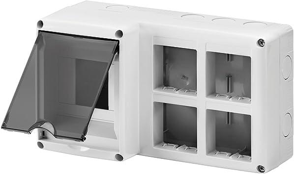 Gewiss GW27072 IP40 caja eléctrica - Caja para cuadro eléctrico (231 mm, 95 mm, 132 mm): Amazon.es: Bricolaje y herramientas