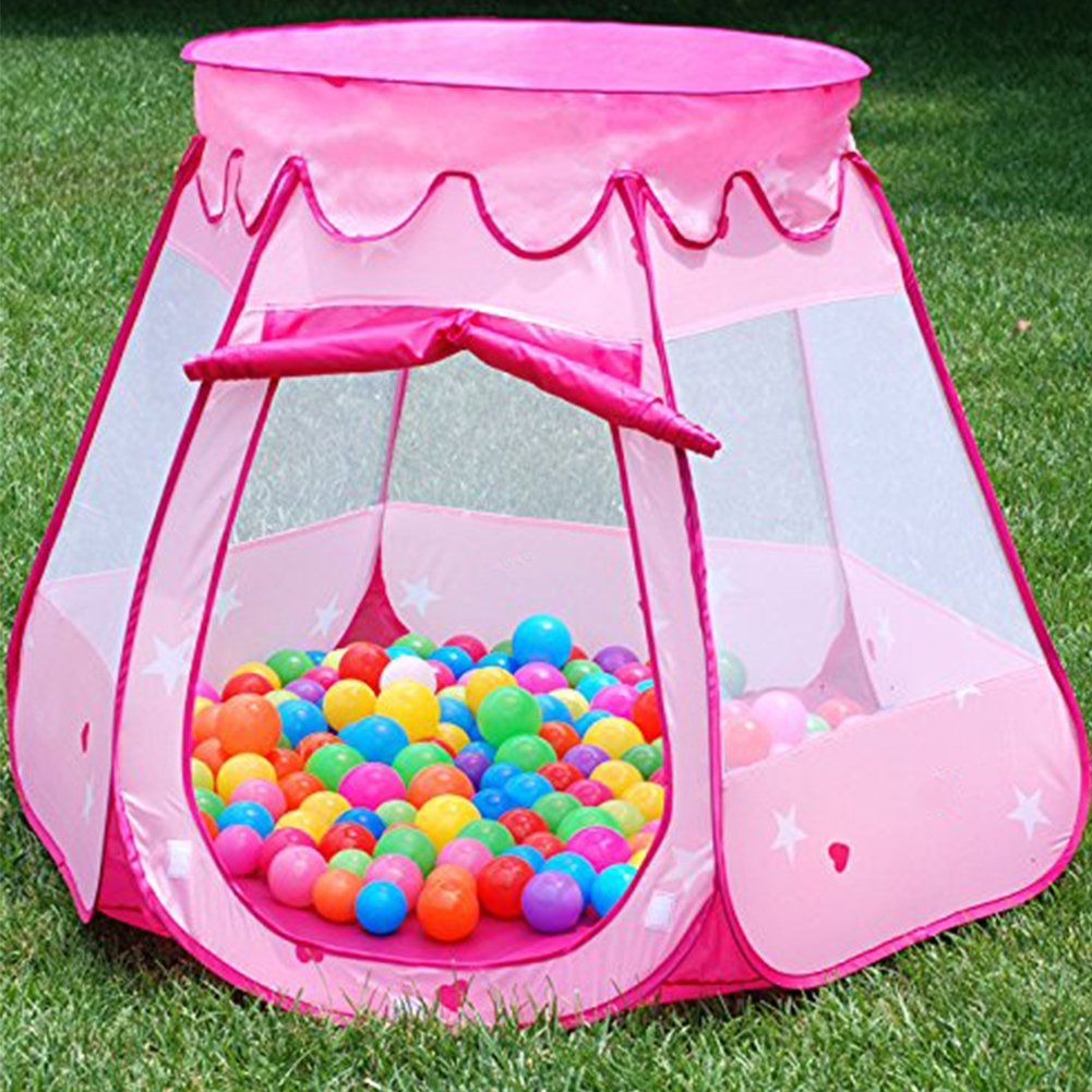 Amazon.com MAIKEHIGH Children Play Tent Ball Pit Hexagonal Foldable Castle Playhouse Pop Up House Tents For Kids (Ball Not Included) (Pink) Toys u0026 Games & Amazon.com: MAIKEHIGH Children Play Tent Ball Pit Hexagonal ...