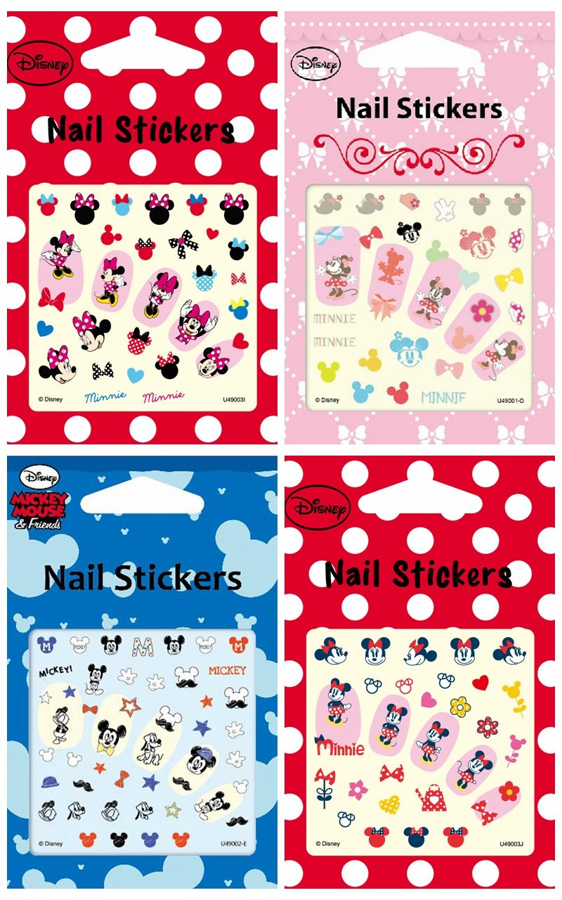 Disney Nail Art-Sticker Dekoration Cartoon Nail Decals sortiert 4 ...