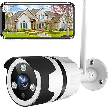 NETVUE Camaras de Vigilancia Wifi Exterior 1080P, Compatible con Alexa, Exterior IP66 Resistente al Agua Resistente al Polvo estática con visión ...