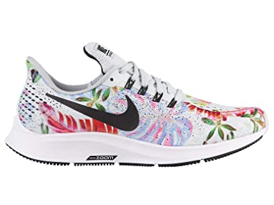 3e212421b06c Image Unavailable. Image not available for. Color  NIKE Air Zoom Pegasus 35  - Women s Pure Platinum Black White Nylon Running Shoes