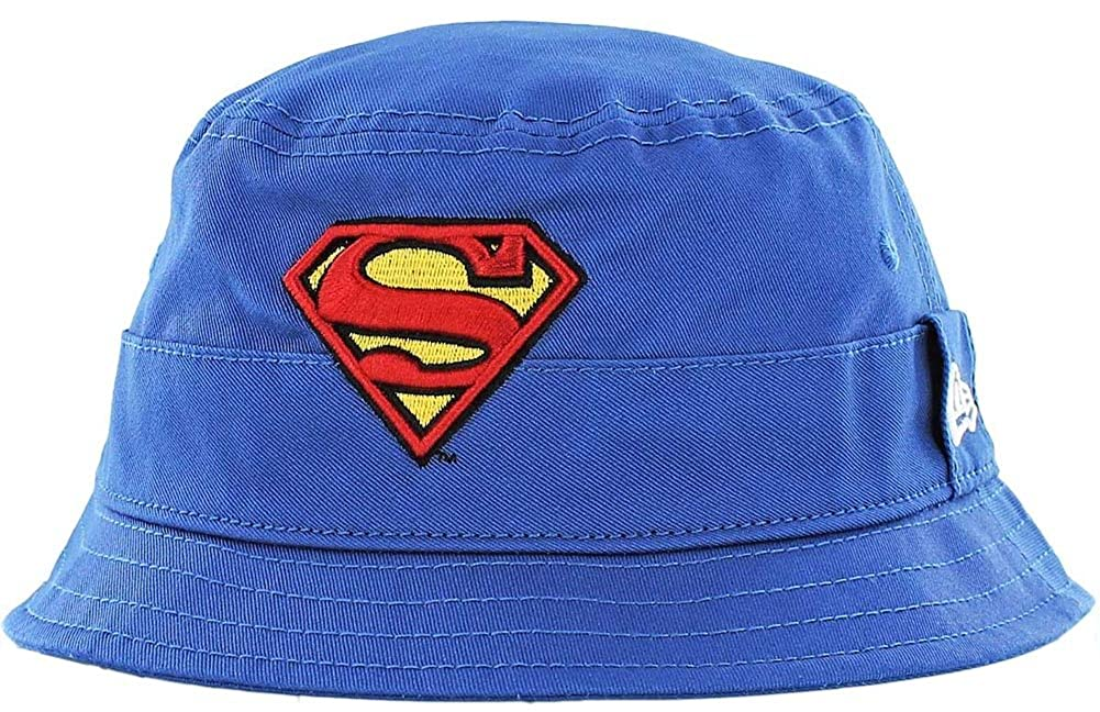 New Era Superman Character Bucket Hat Youth Royal Sonnenhut Kids DC Comics