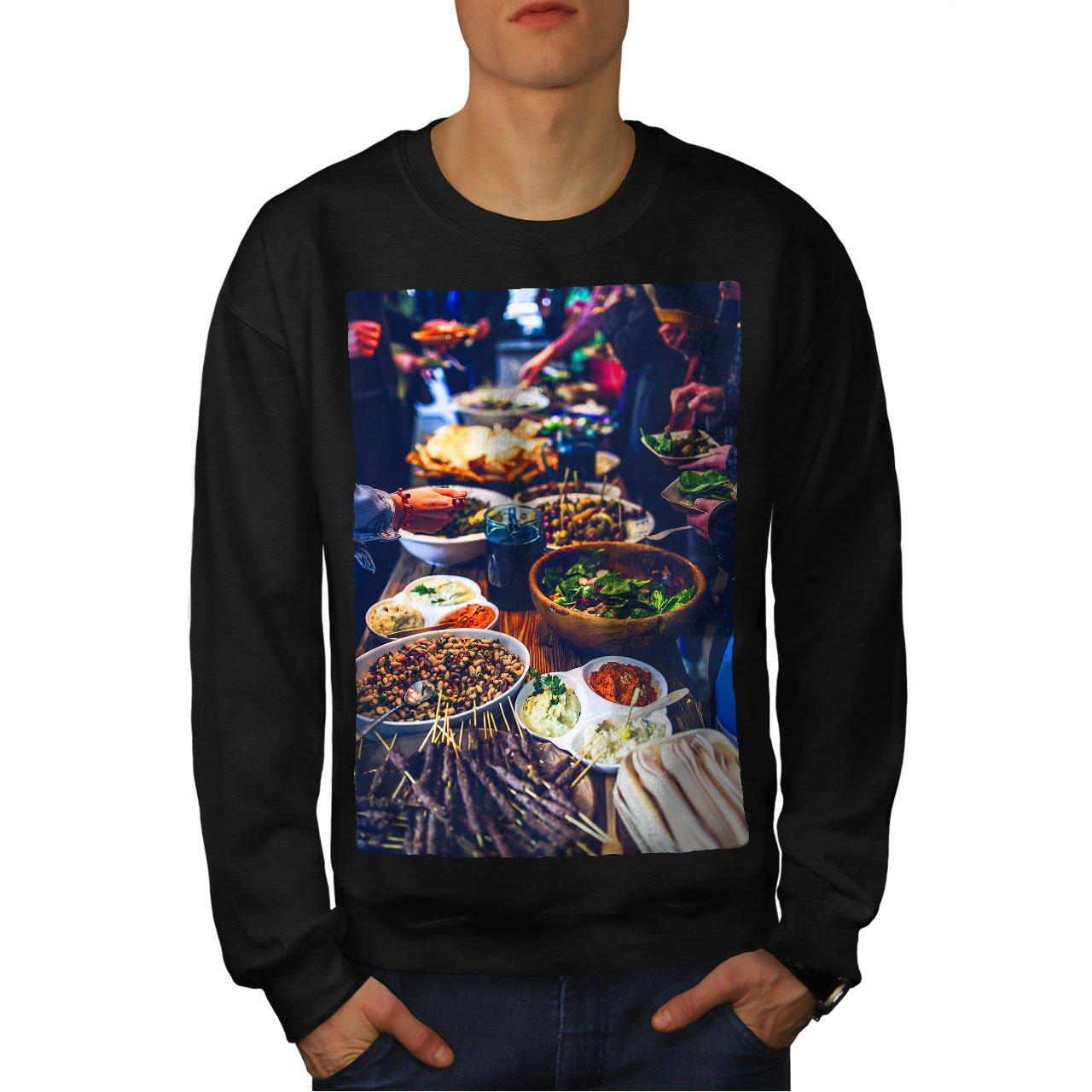 wellcoda Traditional Dinner Mens Sweatshirt Colourful Casual Jumper