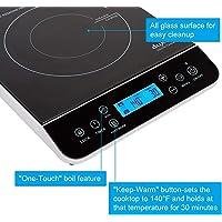 Duxtop 9600LS LCD 1800-Watt Portable Induction Cooktop Countertop Burner