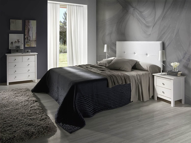 Cabecero tapizado Judith Blanco 160 X 55 X 3 cm Incluye herrajes