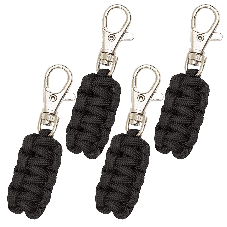 Scimmia Armatura Paracord Cerniera 4 Pack variet/à di Colori Gancio di Metallo Sottile Abbastanza per attaccare praticamente Qualsiasi Zipper