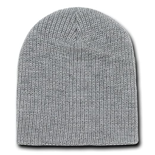 f139bc92cca Image Unavailable. Image not available for. Color  Decky Men s 8 Inch Short Knit  Watch Beanie Cap (2 Pack)