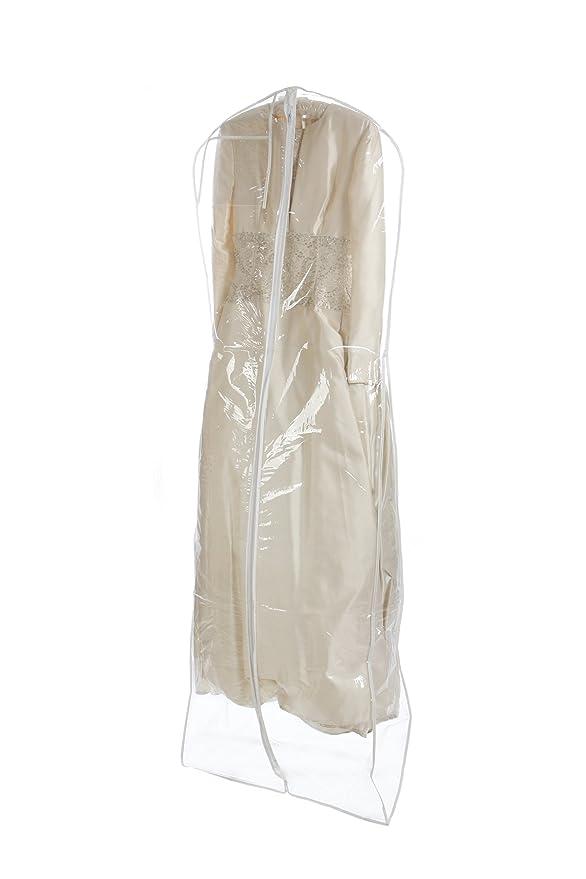 Amazon.com | Bags for Less Heavyduty Clear Wedding Gown Garment Bag ...
