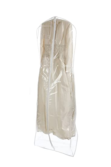 Amazon.com | Bags for Less Heavyduty Clear Wedding Gown Garment Bag ...