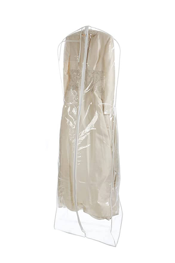 Amazon.com   Bags for Less Heavyduty Clear Wedding Gown Garment Bag ...