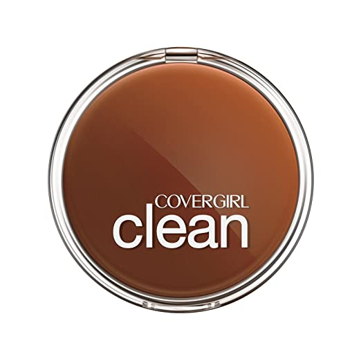 COVERGIRL Clean Pressed Powder Foundation Soft Honey 155, .39 oz