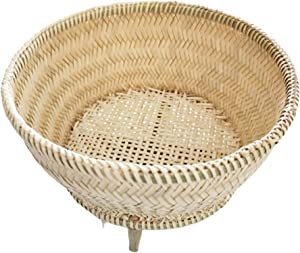 Heavens Tvcz Thai Lao Sticky Sweet Rice Steamer Basket Bamboo Rice Cooker Sticky Thai Insert Cooking Asian Steam Small Lao Sweet Cooker Wear Handmade Steamer Size Automatic Electronic for 1.80 Liter W