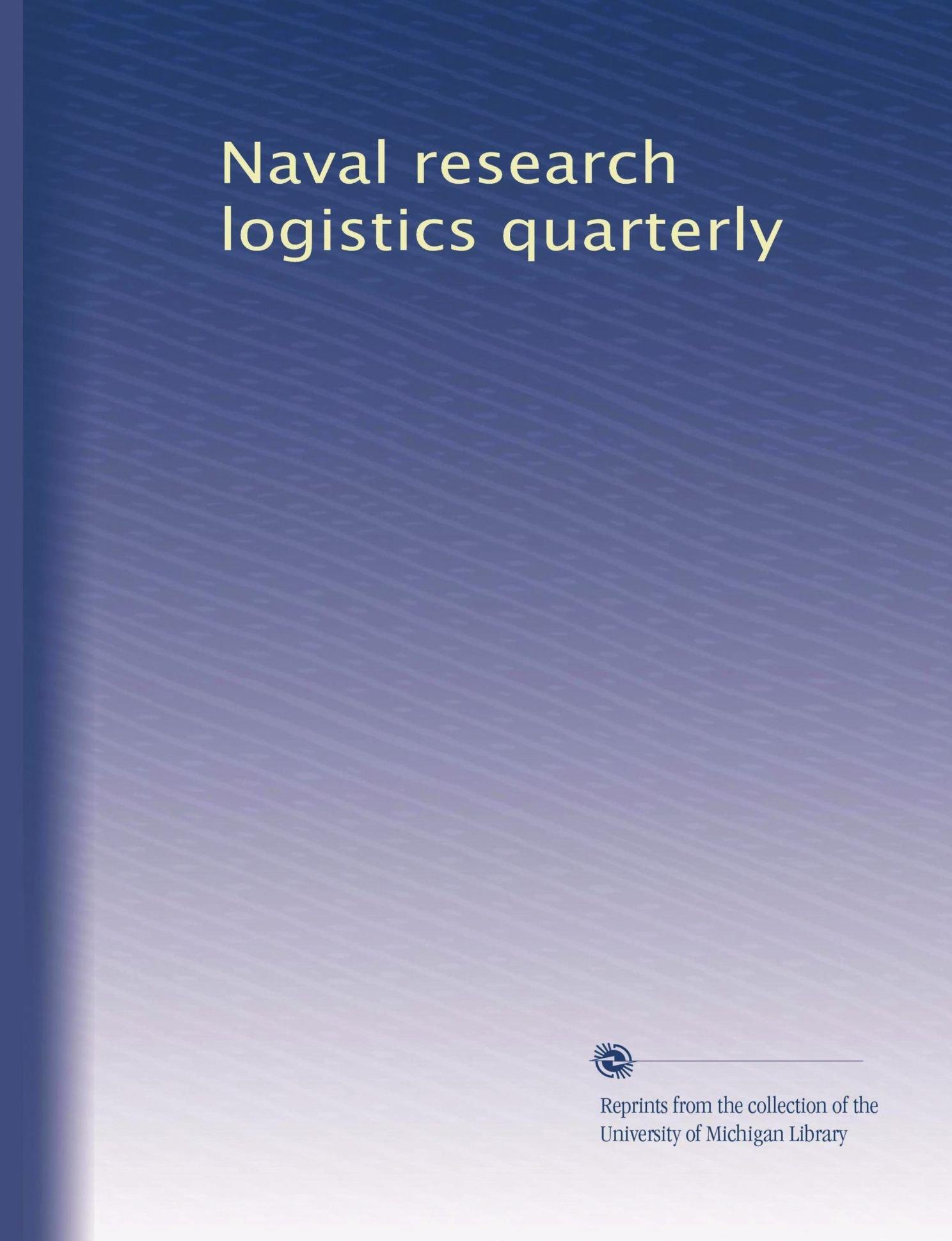 Download Naval research logistics quarterly (Volume 2) pdf epub