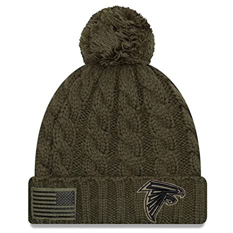 separation shoes 555af a76ca New Era Women 2018 Salute to Service Sideline Cuffed Knit Hat - Olive  (Atlanta Falcons