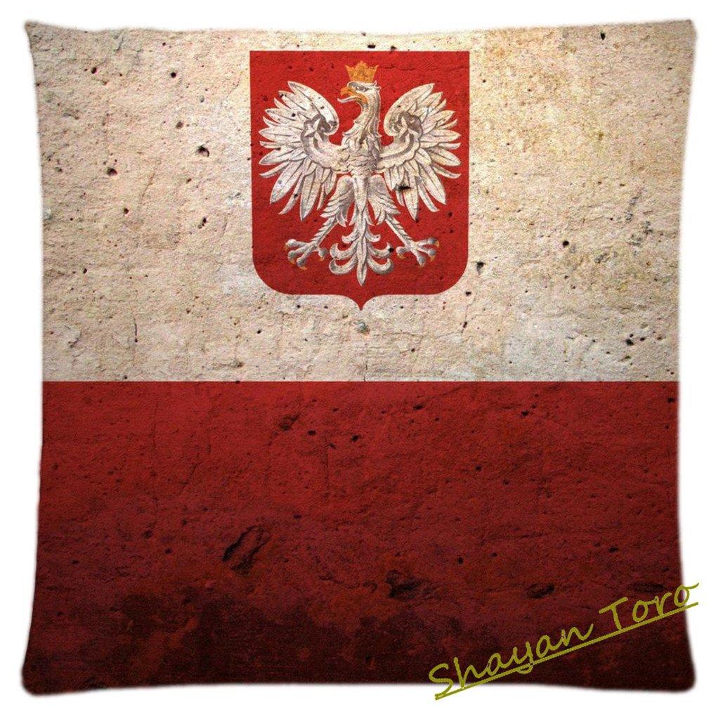 Diseño único banderas de Polonia cuadrada decorativa manta ...