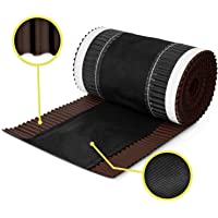 5m x 390mm Brun chocolat closoir ventilé RAL