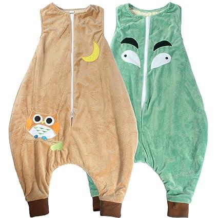 KF Walker – Mochila saco de dormir Wearable Manta para bebé de franela para niños,