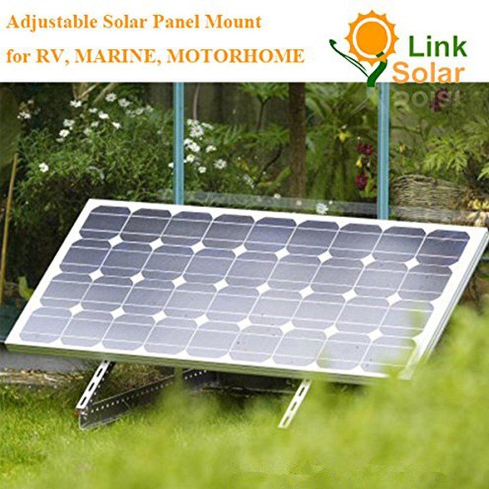 Adjustable Solar Panel Mount Mounting Rack Bracket Set Rack Folding Tilt Legs, Boat, RV, Roof Off Grid (28-inch Length) by Link Solar (Image #8)