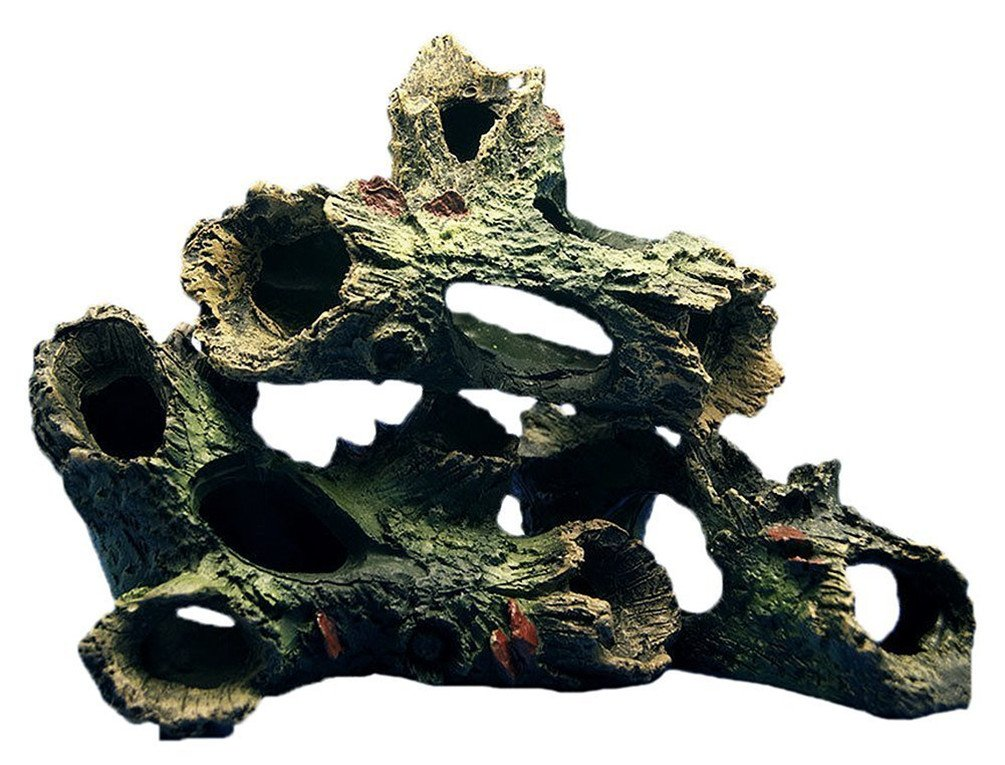 Aquarium Fish Tank Ornament Rockery Hiding Cave Landscape Tree Underwater Decor (Design D)
