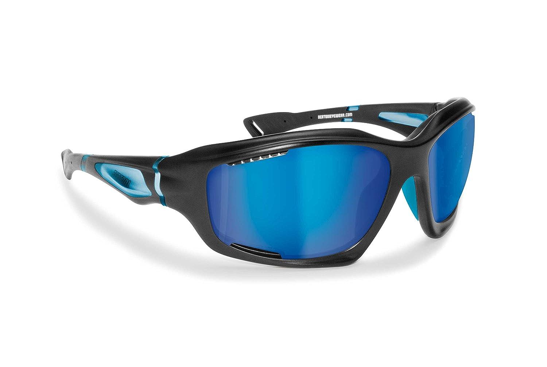 1205b68f6069 Polarized Sport Sunglasses Hydrophobic Lens Wraparound Windproof Design for  Watersports Cycling Fishing Running Ski KiteSurf by Bertoni Italy -TPX  floating ...