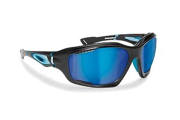 BERTONI Gafas Deportivas Polarizadas Hidrofóbicas - Envolventes a Prueba de Viento - para Ciclismo Carrera Deporte