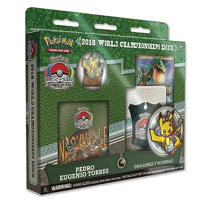 Amazon.com: Pokemon TCG: Campeonato del Mundo 2018, Rayquaza ...