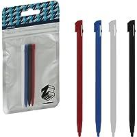 ZedLabz slot in plastic stylus touch screen pen set for Nintendo 2DS - 4 pack red blue white & black