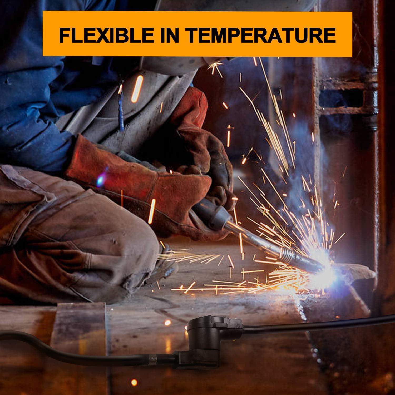 25FT 50 Amp Heavy Duty Welder Extension Cord Nema 6-50 Industrial Welding Machine Cord 8 Gauge 3 Prong for MIG,Lincoln,Plasma,Miller,TIG