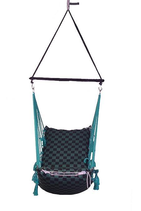 Porwal Swing Chair (Green, HSA-3003-GreenBlack)