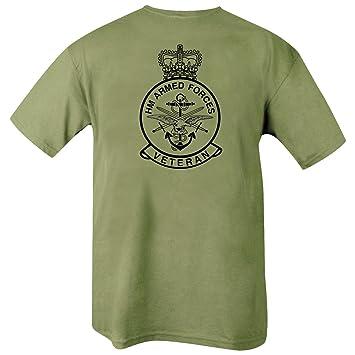 Kombat UK Camiseta para Hombre Texto en inglés HM Armed Forces Veteran, Hombre, Color Olive Green, tamaño 2 X-Grande: Amazon.es: Deportes y aire libre