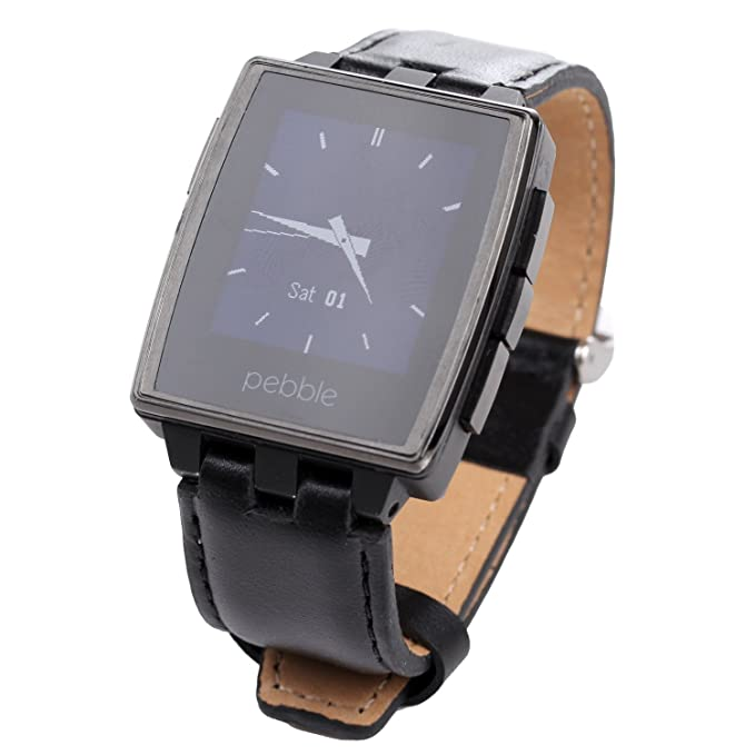 Fiimi Cuir véritable Bracelet de montre bracelet pour Pebble Steel 2 pattes, 22 mm: Amazon.fr: High-tech
