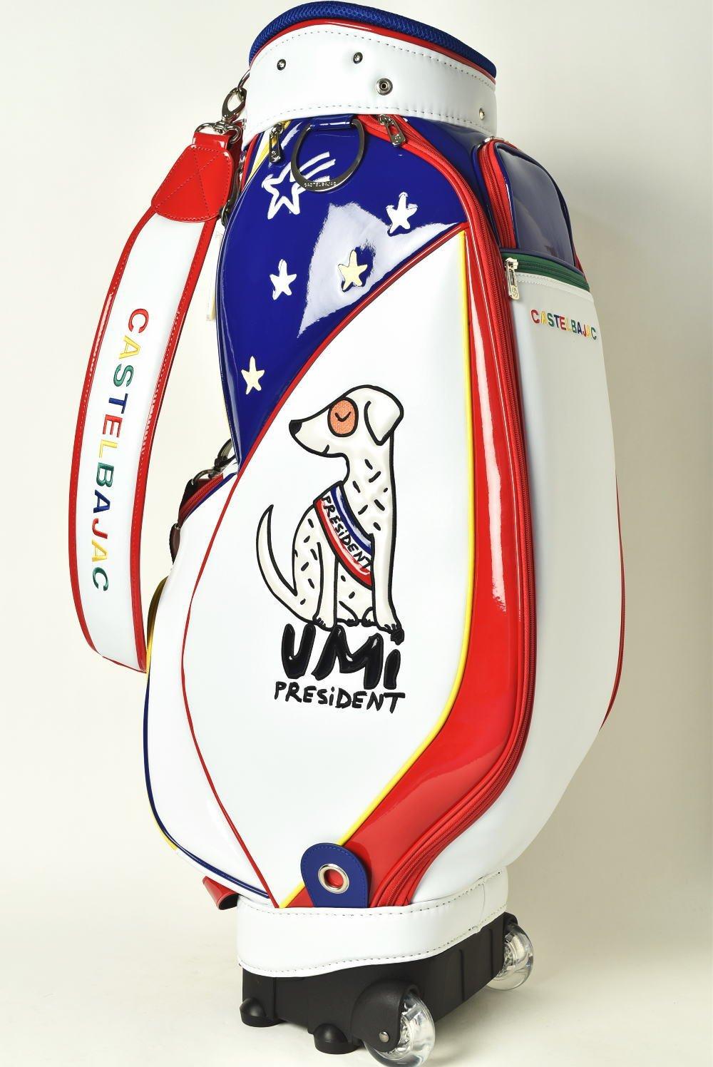 (カステルバジャック) CASTELBAJAC キャディバッグ レディース スポーツ ゴルフ 24003-407 B01N2MD4AQ  ホワイト(01) 40
