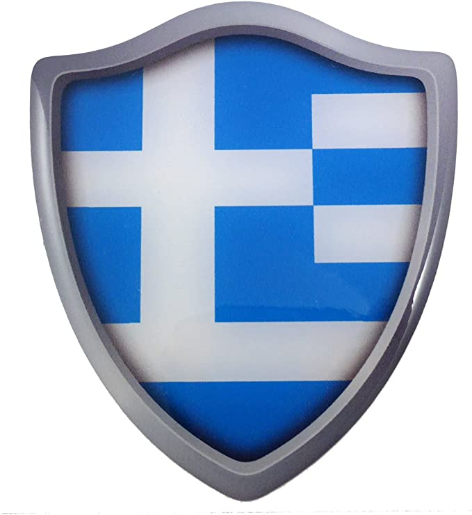 Greece Greek Flag Car Trunk Emblem Badge Motorcycle Sticker Decals Fairing