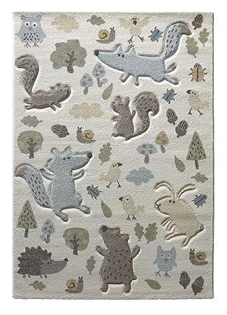 Sigikid I Kinder Teppich I Forest I SK 21965 060 I Weiß Taupe Grau