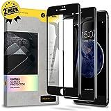 【Humixx】iPhone8 ガラスフィルム iPhone7 ガラスフィルム 2枚入り 日本旭硝子製 最高硬度10H 強化ガラス 9Dラウンドエッジ加工 全面保護 3D Touch対応 高鮮明 透過率99.99% 気泡防止 指紋防止