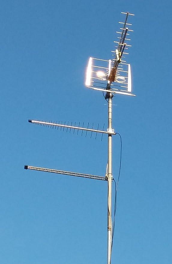 Antenas 4G LTE + WiFi LOG Yagi MIMO 11dBi 700/800/900/1800/2100/2400/2600 MHz LowcostMobile 2x0,7m Duo SMA Cable Negro WL240 para Huawei B593, E5186, B310, ...