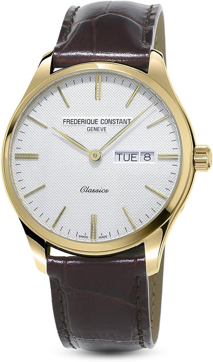 Frederique Constant Geneve Classics Quartz FC-225ST5B5 Reloj de Pulsera para hombres Con pulsera adicional