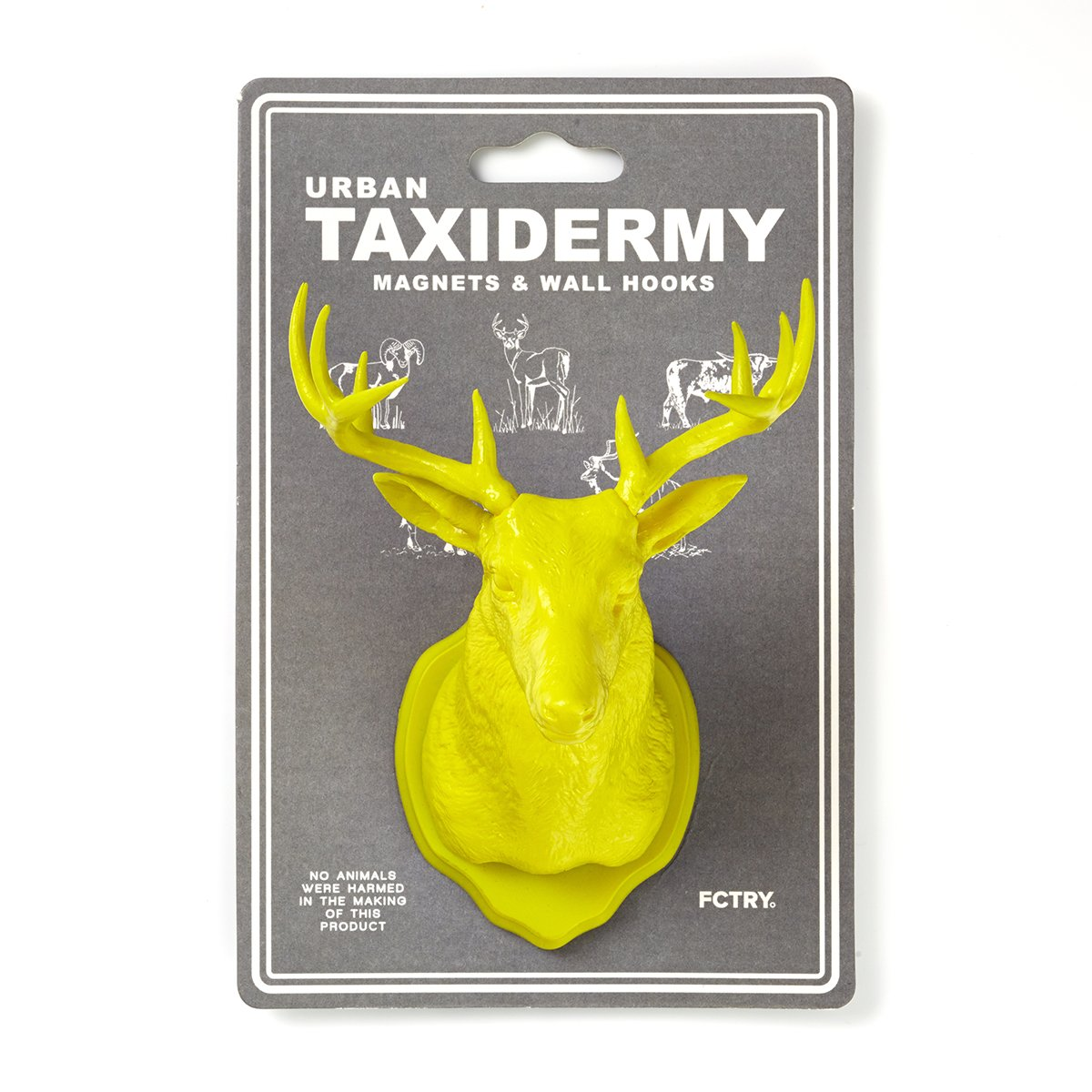 Urban Taxidermy Magnet and Wall Hook Deer - Yellow by FCTRY