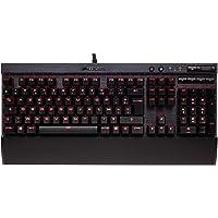 Corsair K70 LUX Red LED Clavier Mécanique Gaming (Cherry MX Brown: Tactile et silencieux, Rétro-Éclairage Rouge, AZERTY FR Layout) - Noir