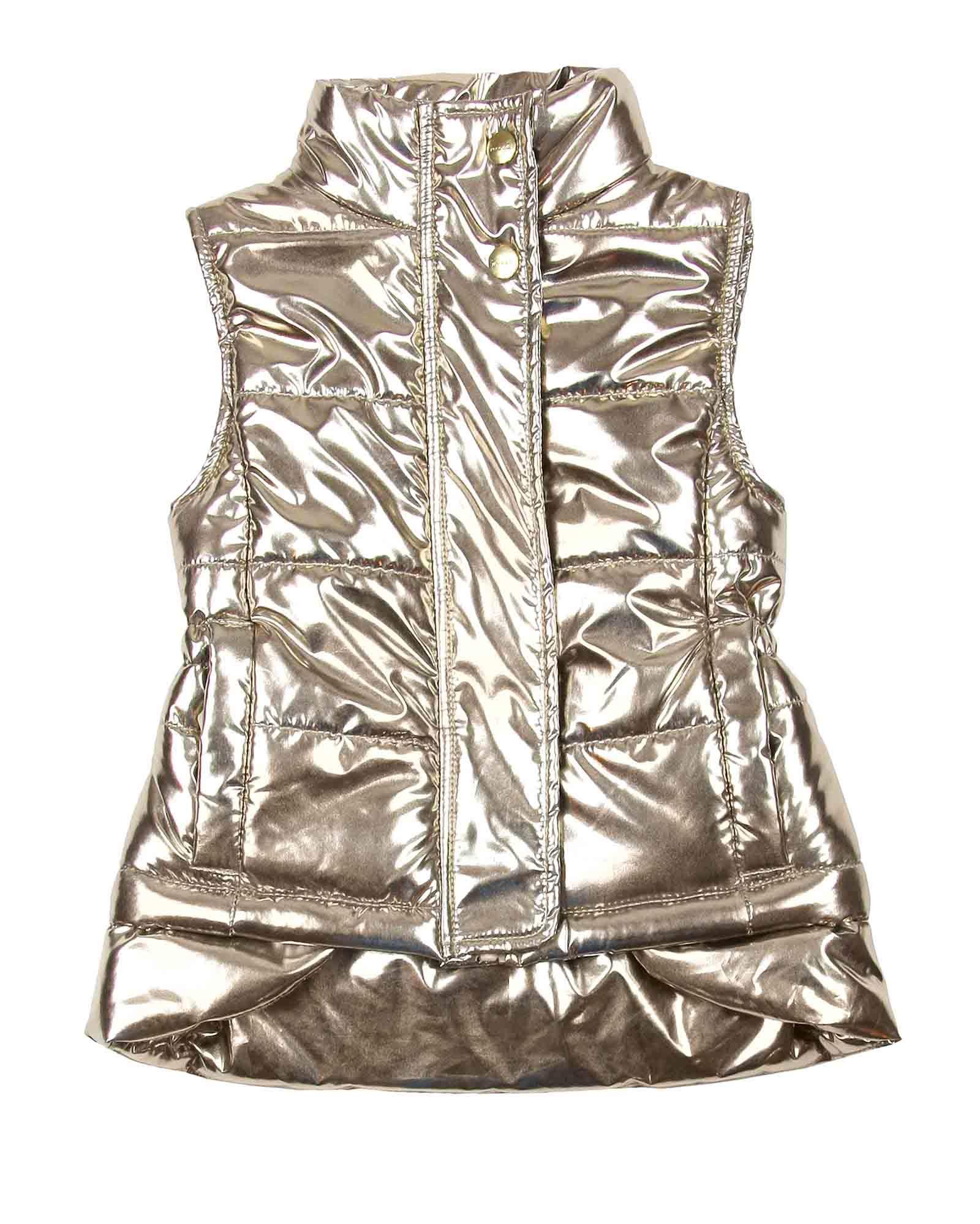 Imoga Girl's Gold Metallic Vest Freddie, Sizes 6-14 - 14 by Imoga