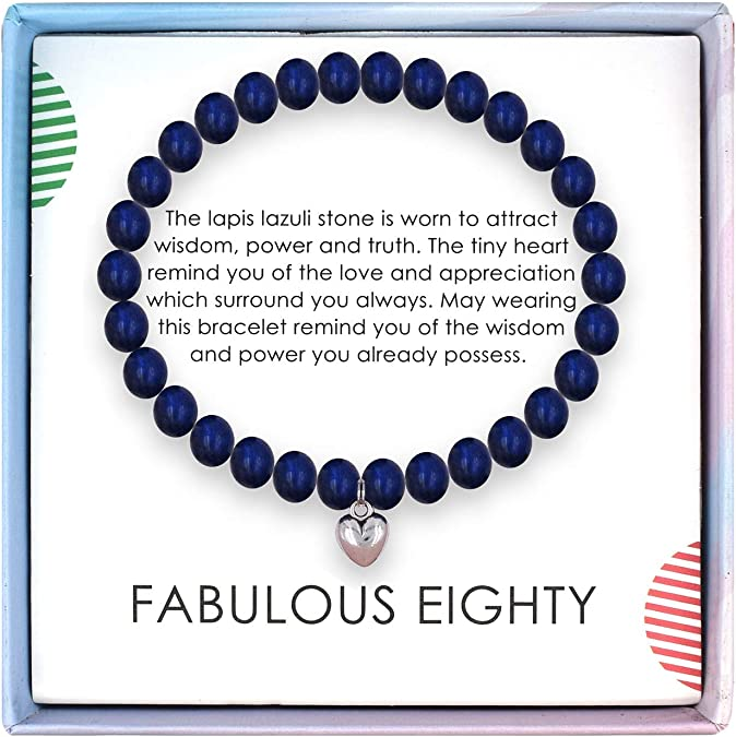 80th Birthday Bracelet