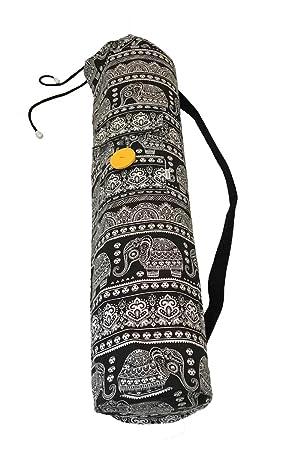 Bolsa de Tela Hecha a Mano para Esterilla de Yoga con cordón ...