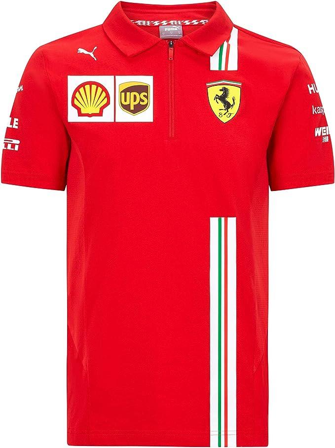 2020 Scuderia Ferrari F1 Team T Shirts Vettel Leclerc In Herren Damen Kinder Größen Amazon De Bekleidung