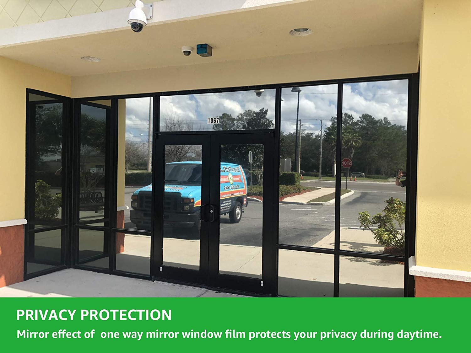 Ablave Window Film One Way Film Mirror Effect Privacy Static (17.7in x 78.7in)