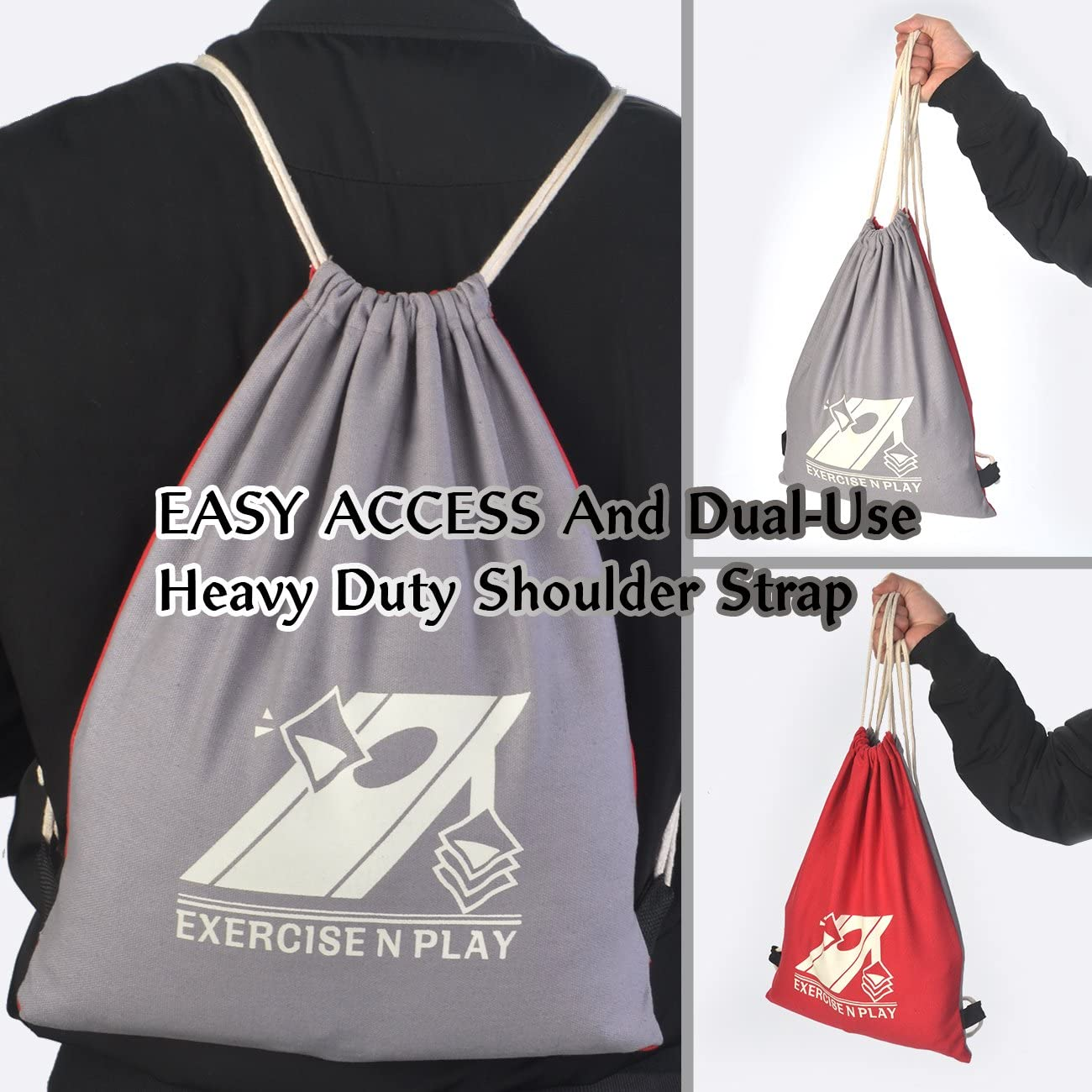 EXERCISE N PLAY Weather Resistant Official Regulation Cornhole Bags Set of 8 for Bean Bag Toss Games Includes Tote Bag