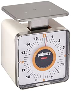 Rubbermaid Commercial Products FGK16SS Compact Food Service Mechanical Portion Control Scale, 16 oz.