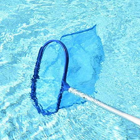 Cleaning and maintenance swimming pool with cleaning net, blue..