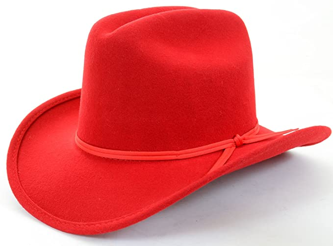 Amazon.com  Kids Red Banded Knot Detail Cowboy Dress Hat Unisex -xs ... 394fba29b5a