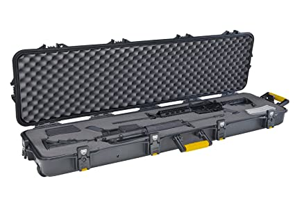 amazon com plano double scoped rifle case w wheels airsoft gun